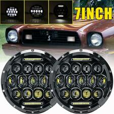 """7""""Inch 150W DOT LED Headlights Hi/Lo Beam 4-H13 DRL for Ford Mustang II Falcon"""