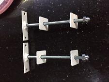 2 x cast iron radiator wall stay/  bracket / tie powder coated, white,