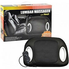 Heated back massage seat adjustable lumbar support with heat car office and home