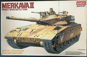 Academy1/35 Model Israeli Merkava II Main Battle Tank with chain and ball armor