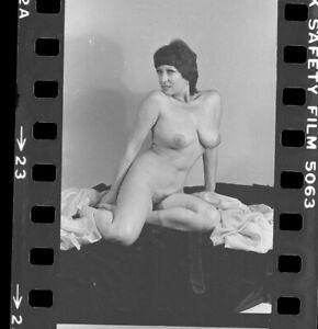 """HARRISON MARKS MODEL ? """" JUNE PALMER """" Nude 35mm 5 X NEGATIVES ORIGINAL"""