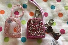 Lot 3 Bath & Body Works PocketBac Hand Santitizer Holders Pink Sparkle & Bow