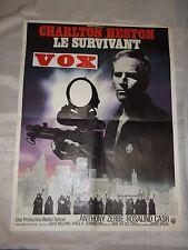 "AFFICHE CINEMA ""LE SURVIVANT"" (1971) CHARLTON HESTON / OMEGA MAN"