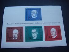 Germany 1968 Opera Music Miniature sheet  MNH SG MS 1459