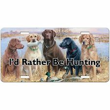 HUNTING DOGS LICENSE PLATE CUSTOM CAR TAG LABS VANITY PLATE