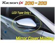 LED Side Mirror Cover Chrome Molding K-349 For Hyundai 2010~2013 Tucson ix ix35