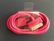 3X 30pin Rose Pink USB Data Charging Charger Cable for Apple iPhone 4 4S 4G
