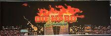 """Die Hard Arcade Marquee 26"""" x 8"""""""