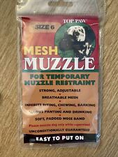 Size 6- 60-80lbs~ Top Paw Mesh Muzzle~ Black Free Shipping