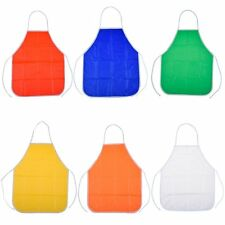 Apron Quality 6 Pack PVC Kids Toddler Children's Artist for School Kitchen home