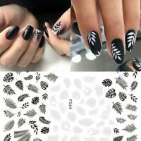 3D Nail Stickers Flower Tropical Plants Adhesive DIY Nail Art Transfer Decals U7