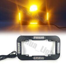 """14"""" 24W LED Strobe License plate lights Warn Flash Traffic Advisor Amber 12/24V"""