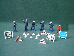 Vintage Corgi ? Dinky ? Plastic Police / Fire Figures For Diecast Vehicles