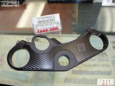 Carbon Fiber Triple Clamp Decal 2006 - 2012 Suzuki GSXR 600/750 - 3M Vinyl