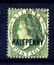 ISOLA DI SANTA LUCIA - 1881 - Regina Vittoria. Sovrastampa