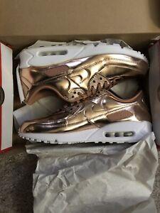 Size 14 Women's / 12.5 Men's - Nike Air Max 90 Metallic Pack - Rose Gold 2020