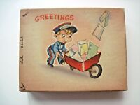 Cute Vintage Greeting Cards Box with (9) Adorable Greeting Cards  *