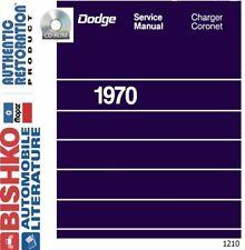 OEM Digital Repair Maintenance Shop Manual CD for Dodge Charger, Coronet 1970