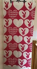 Hot Pink Playboy Curtains With Bunnies And Hearts With Tie Backs