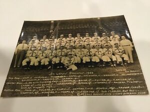 1944 George Dorrill St. Louis Browns Type 1 Team Photo World Series year