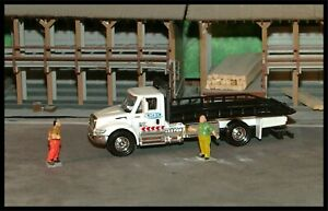 (2019) Matchbox _ HO Scale Working Rigs International Durastar Flatbed Tow Truck