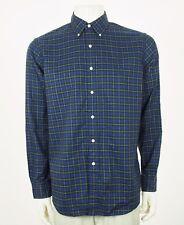 Polo Ralph Lauren RL Dark Blue Striped Plaid Button Shirt Mens Large