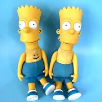"Lot of 2 Vintage Bart Simpson 11"" Plush Doll 1990 20th Century Fox Matt Groening"