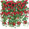 2PC 8Ft Artificial Rose Flower Ivy Vine Silk Flower Garland Wedding Garden Decor