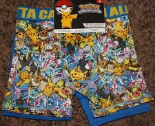 NEW boys POKEMON 2-pair BOXER BRIEFS character ATHLETIC moisture wick SZ 6