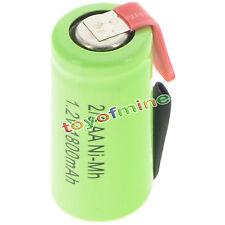 1 pz 2/3AA 1.2V 1800mAh Ni-MH ricaricabile batteria