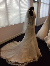 Maggie Sottero Wedding Dress Size 10 Champagne/Ivory Never Been Worn
