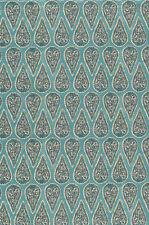 Ballard Designs Anya Mist slub duck cotton rayon fabric by the yard