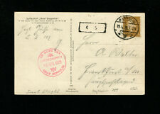 Zeppelin Sieger 023-Id 1929 Southwest Germany Flight Germany Post Mannheim Drop