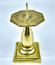 "Authentic vintage solid Brass ""I'll only count your sunny hours"" Sundial Clock"
