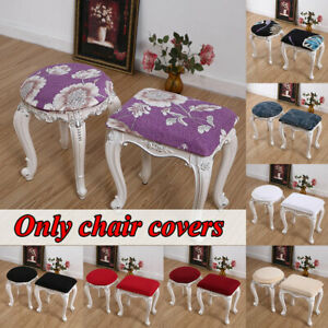 Square Chair Cover Dressing Table Makeup Stool Slipcover Dustproof Protector