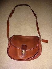 Vintage Brown Leather Coach Purse Handbag