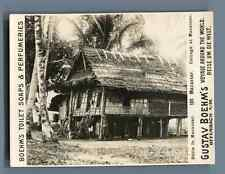 Indonesia, Macassar, Cottage at Macassar  Vintage silver print. Photo from the S