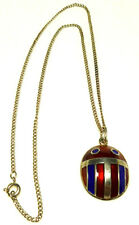 DAVID ANDERSEN STERLING SILVER ENAMEL SCARAB BEETLE BUG INSECT PENDANT NECKLACE
