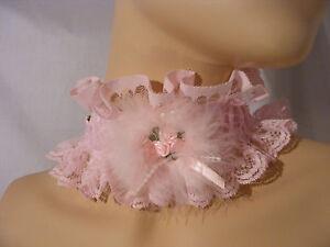 Sissy Erwachsene Baby Kätzchen Ddlg Halskette Halsband Lolita Kostüm Cosplay Op
