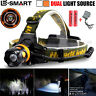 6000Lm 2 Source CREE XM-L T6 LED Headlamp Headlight Head Torch 18650 + Charger