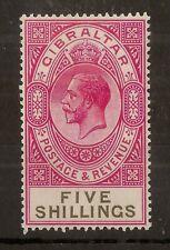 Gibraltar 1925 GV 5/- SG105 MNH Cat£20