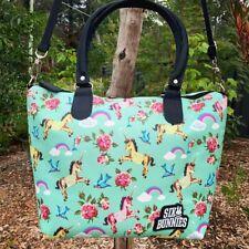 Six Bunnies Unicorn Nappy Bag or Tote Handbag Unique Retro Rockabilly Tattoo
