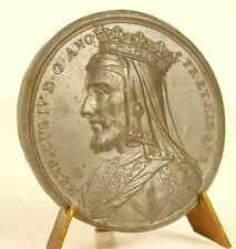 Médaille Roi King Henri HENRY IV doublet & crown couronne sc Jean Dassier medal