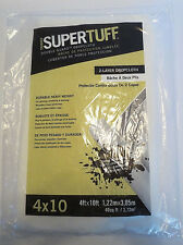 Trimaco 2602 Supertuff Double Guard Drop Two Layer Drop Cloth, 4-Feet x 10-Feet