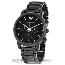 *NEW* MENS EMPORIO ARMANI BLACK ION PLATED WATCH - AR1895 - RRP £299.00