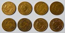 Sammlung 8 x 5 Reichspfennig Rentenpfennig Weimar 1924 - 1936