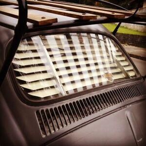 Volkswagen Beetle Bug Rear Window Venetian Blinds Ivory Beige Slats VW 1965-77