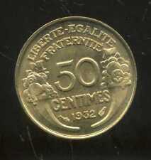 50 centimes MORLON 1932 SUP  ( 9 & 2 ouvert )  ( SPL )  SORTIE DU ROULEAU  (bis)