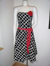 RUBY ROX Women's Black White Strapless Bubble Wide Skirt Dress USA Made sz. 9 M