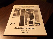 1993 CONNECTICUT ELECTRIC RAILWAY ANNUAL REPORT